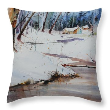 Winter Wonders Throw Pillow by P Anthony Visco