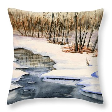 Winters Delight Throw Pillow by Kristine Plum
