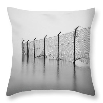 Wire Mesh Fence Throw Pillow by Joana Kruse