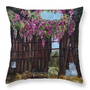 Wisteria Throw Pillow by Jan Holman