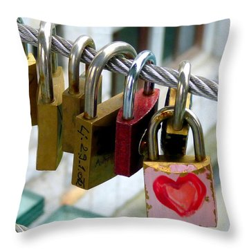 With All My Heart Throw Pillow by Carla Parris