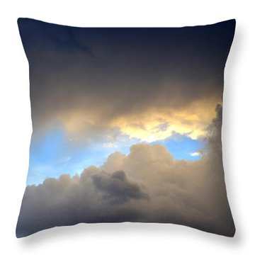 Wolf Clouds Throw Pillow by Diane montana Jansson