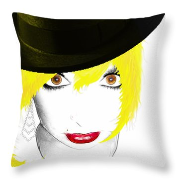Woman 13 Throw Pillow by Cheryl Young