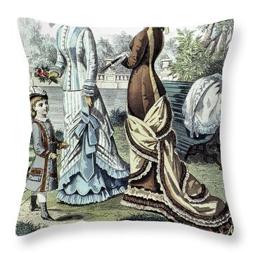 Womens Fashion, 1877 Throw Pillow by Granger