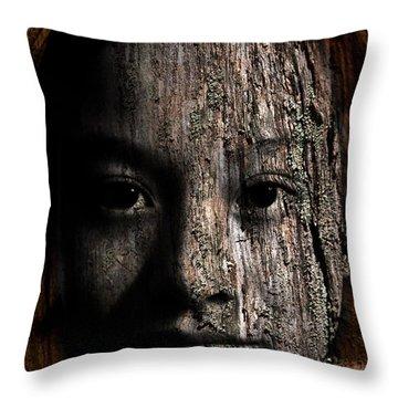 Woodland Spirit Throw Pillow by Christopher Gaston