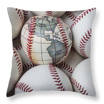 World Baseball Throw Pillow by Garry Gay