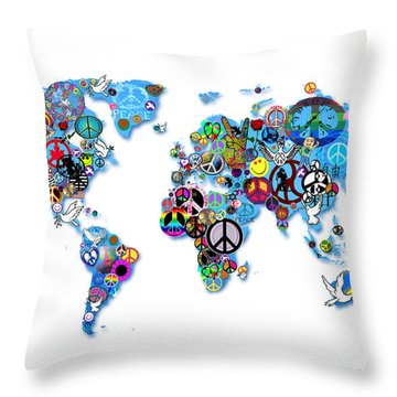 World Peace Throw Pillow by Bill Cannon