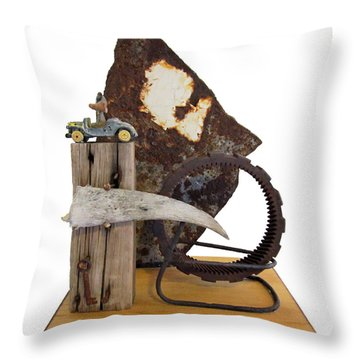 Wrong Directions Throw Pillow by Snake Jagger