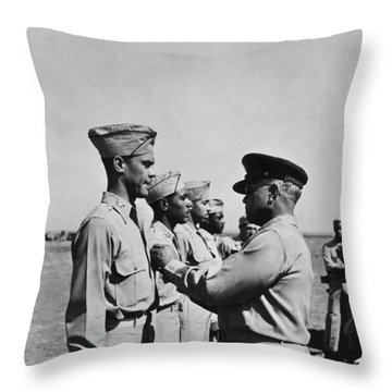 Wwii: Flying Cross Awards Throw Pillow by Granger