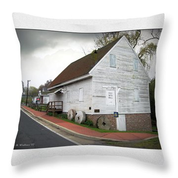 Wye Mill - Street View Throw Pillow by Brian Wallace