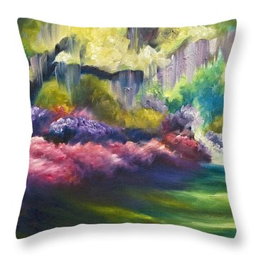 Wysteria Lane Throw Pillow by James Christopher Hill