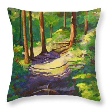 X Marks The Spot Throw Pillow by Mary McInnis