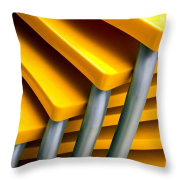 Yellow Tables Throw Pillow by Carlos Caetano