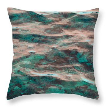 Yellowstone Abstract Throw Pillow by Cindy Lee Longhini