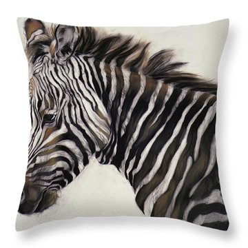 Zebra  Throw Pillow by Odile Kidd