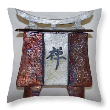 Zen Vessel - Med Throw Pillow by Victoria Page