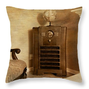 Zenith Consol Radio 1940's  Throw Pillow by Paul Ward