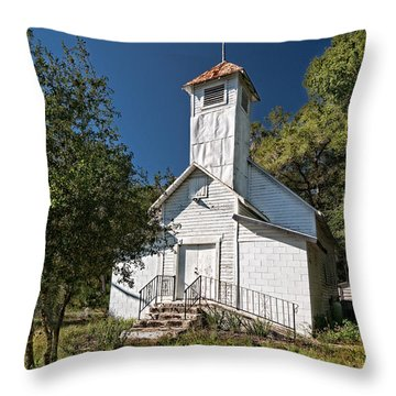 Zion Baptist Church Throw Pillow by Christopher Holmes