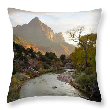 Zion View Throw Pillow by Idaho Scenic Images Linda Lantzy