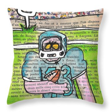 Zombie Football Throw Pillow by Jera Sky