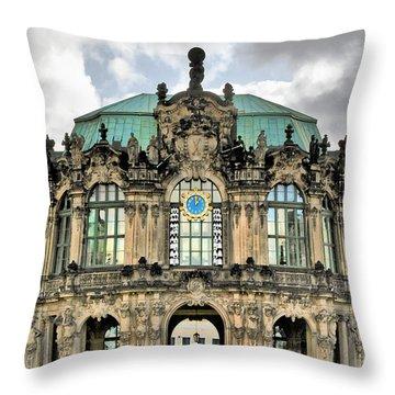 Zwinger Dresden - Carillon Pavilion - Caution Fragile Throw Pillow by Christine Till