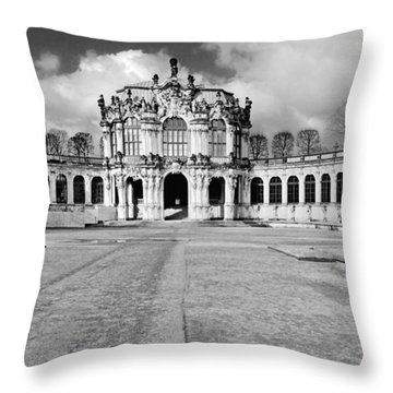 Zwinger Dresden Rampart Pavilion - Masterpiece Of Baroque Architecture Throw Pillow by Christine Till