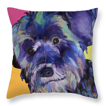Beau Throw Pillow by Pat Saunders-White