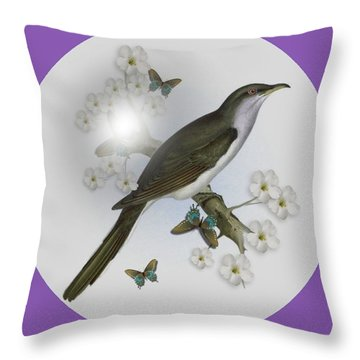 Cuckoo Throw Pillow by Madeline  Allen - SmudgeArt