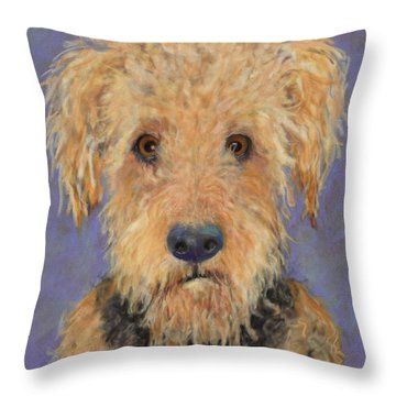 DJ Throw Pillow by Pat Saunders-White