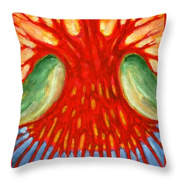 I Burn For You Throw Pillow by Wojtek Kowalski