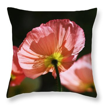 Icelandic Poppies Throw Pillow by Rona Black