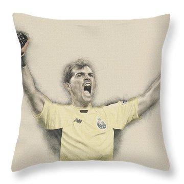 Iker Casillas  Throw Pillow by Don Kuing
