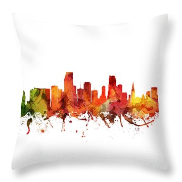 Miami Cityscape 04 Throw Pillow by Aged Pixel