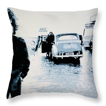 - No Direction Home - Throw Pillow by Luis Ludzska