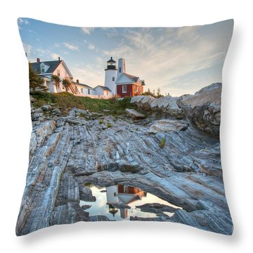 Pemaquid Point Reflection Throw Pillow by Susan Cole Kelly