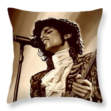 Prince The Artist Throw Pillow by Paul Meijering