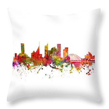 Sydney Australia Cityscape 08 Throw Pillow by Aged Pixel