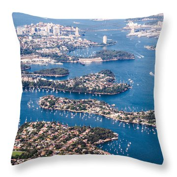 Sydney Vibes Throw Pillow by Parker Cunningham