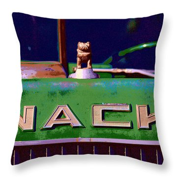 Wack Truck Throw Pillow by William Jobes