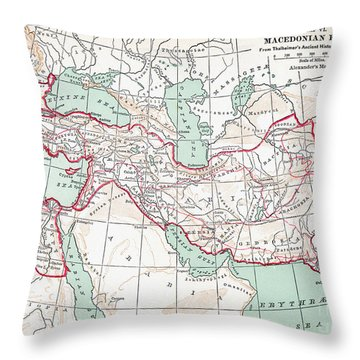 Map Of Macedonian Empire Throw Pillow by Granger