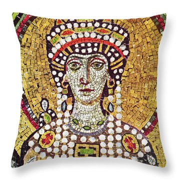 Theodora (c508-548) Throw Pillow by Granger