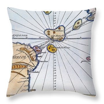 Traces Of Atlantis Throw Pillow by Granger