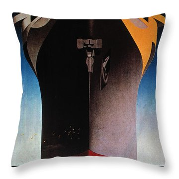 Steamship Normandie, C1935 Throw Pillow by Granger