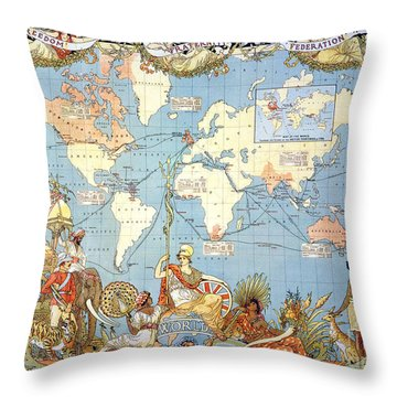 Map: British Empire, 1886 Throw Pillow by Granger