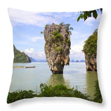 007 Island   2 Throw Pillow by Mark Ashkenazi