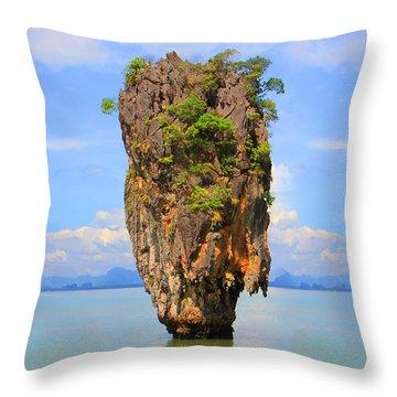 007 Island Throw Pillow by Mark Ashkenazi