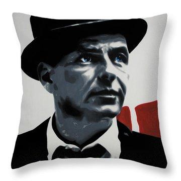 - Sinatra - Throw Pillow by Luis Ludzska
