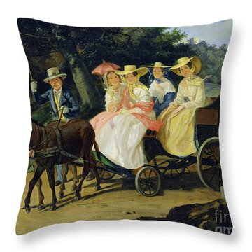 A Run Throw Pillow by Aleksandr Pavlovich Bryullov