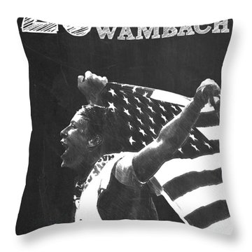 Abby Wambach Throw Pillow by Semih Yurdabak