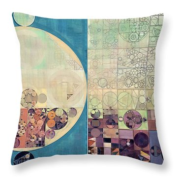Abstract Painting - Parchment Throw Pillow by Vitaliy Gladkiy